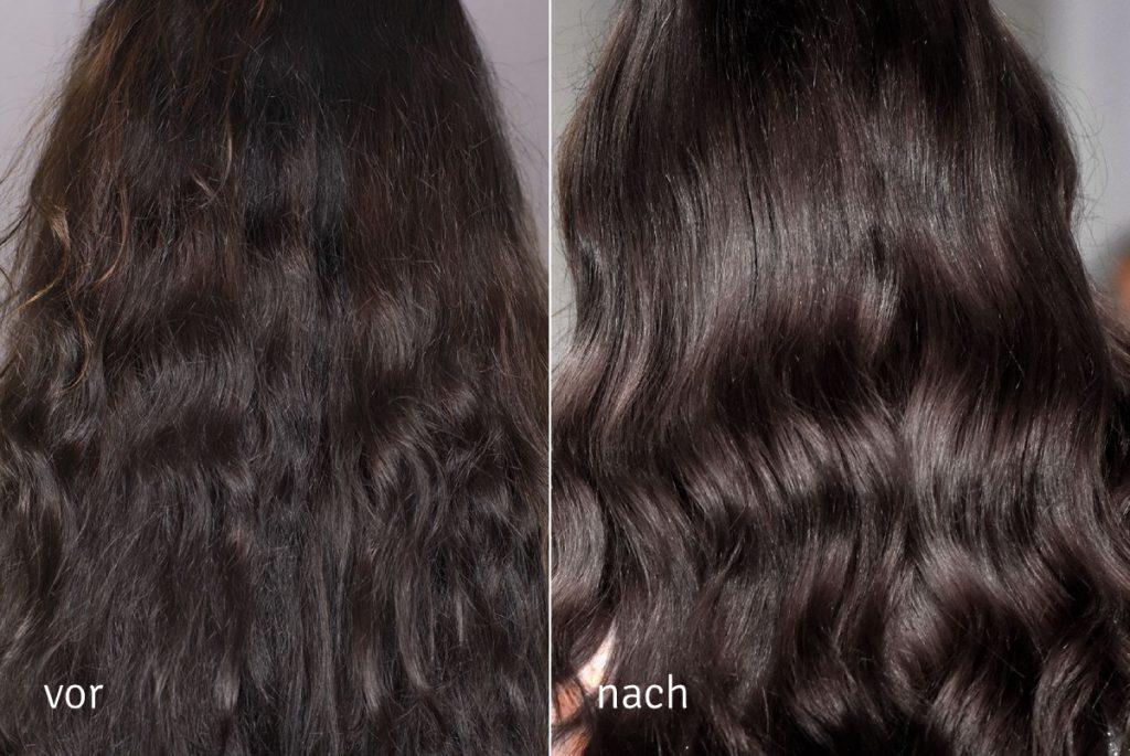Nanoil Keratin Hair Mask - vor und nach